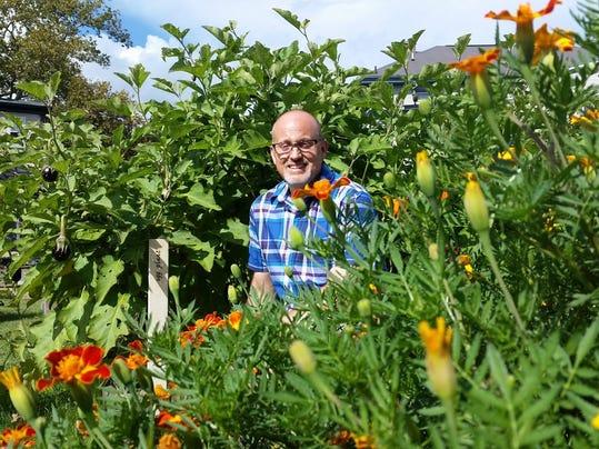 hutchison in garden