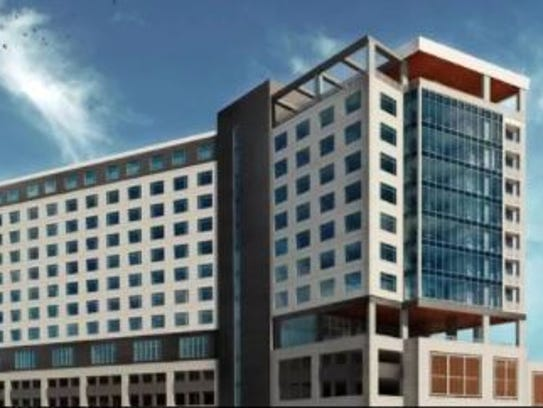 Artist drawing of planned Hotel Luminary in Fort Myers.