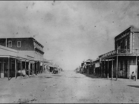 Tombstone's Allen Street, one block from where the gunfight took place.