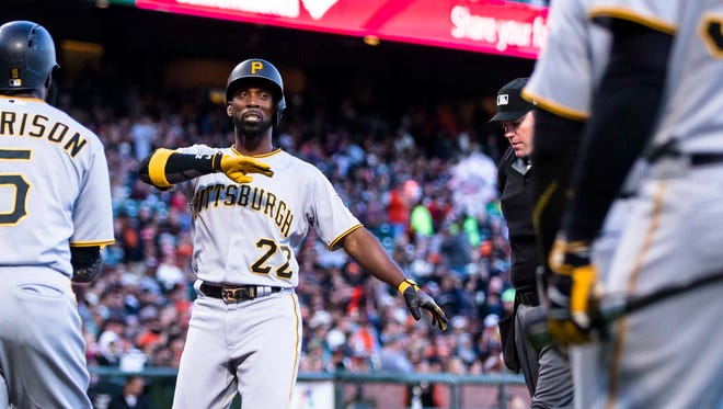 """""""It's rewarding because of the fact the odds were against me for a while,"""" says Andrew McCutchen, back in center field and productive at the plate again for the Pirates."""