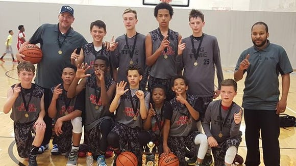 The Big Time Bulldogs seventh-grade boys and fifth-grade girls basketball teams won USSSA state and regional tournament championships last weekend in Gatlinburg, Tenn.