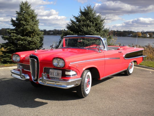 This 1958 Edsel Pacer is owned by Herb Wiese of Lenoir