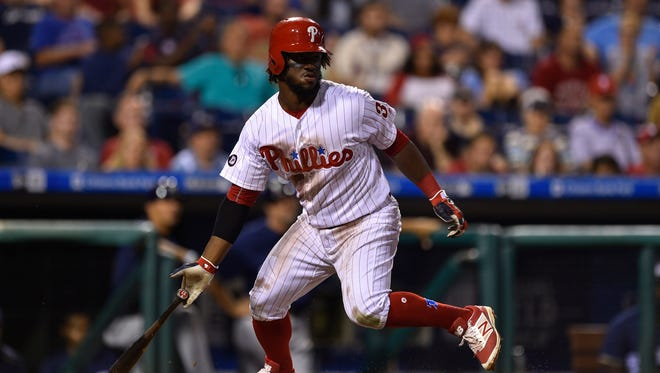 Philadelphia Phillies' Odubel Herrera in action during a baseball game July 22 against the Milwaukee Brewers.