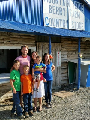 Sidney and Holly Williams are the new owners of the Mountain Home Berry Farm. The couple have four children, daughter Sydnie Grace and sons, Gideon, John and Ben.