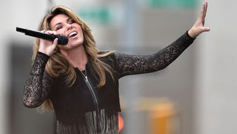 Shania Twain performs on NBC's 'Today' in June.l Her album 'Now' comes out Friday.