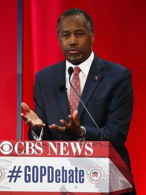 Ben Carson participates in the CBS News Republican