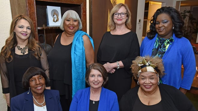 Front row, from left:  Joyce Springfield-Collins, Rev. Lisa Anderson and Ruby O'Grady. Back row, from left: Ines Negrette, Karen Moore, Rebecca Terrell and Kamekio Lewis.