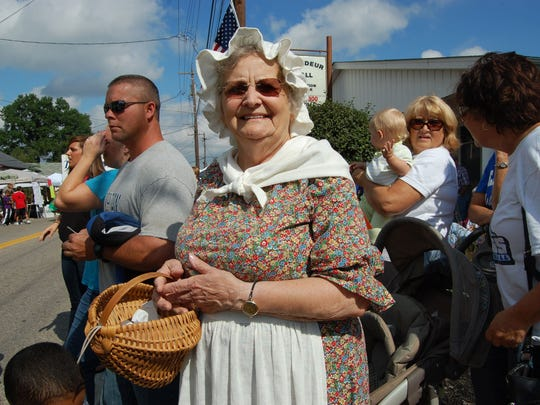Wilma McMillian, from Walton, dresses up for a previous Old Fashion Day celebration.