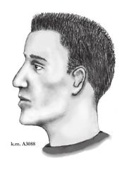 A sketch of the suspected shooter in the Phoenix serial street shootings.