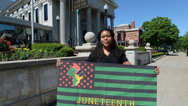 Erie School Director Angela McNair is organizing, with the Booker T. Washington Center, Erie's Juneteenth Celebration at Perry Square on Friday.