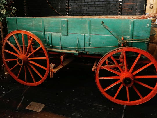 The History Museum received a donation of an original Springfield Wagon. Henry's towing delivered it.