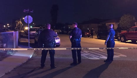 This was the scene at King and Ninth streets early Sunday in Oxnard as a shooting was investigated.