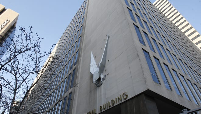 Exterior of the John Weld Peck Federal Building in downtown Cincinnati, home of the local IRS office at the heart of the tea party scandal,