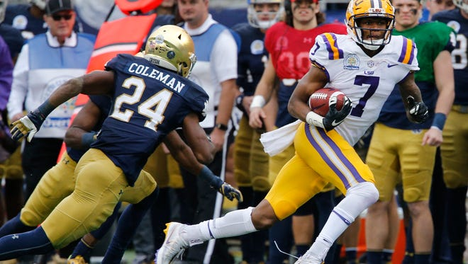 LSU's D.J. Chark has been rising on draft boards this spring.