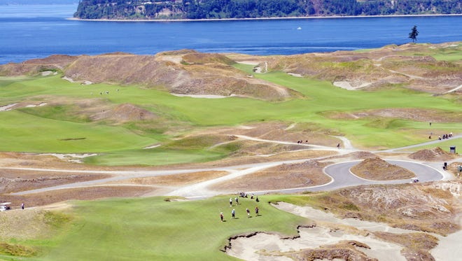 Tee of the 9th hole at Chambers Bay