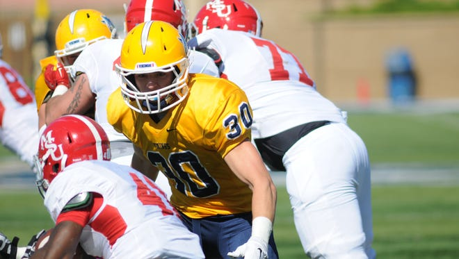 Redshirt freshman Kirby Hora has established himself as a crucial piece to the Augustana defense.