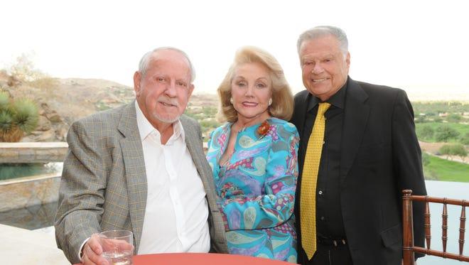 RD Hubbard, President Peggy Cravens, Harold Matzner