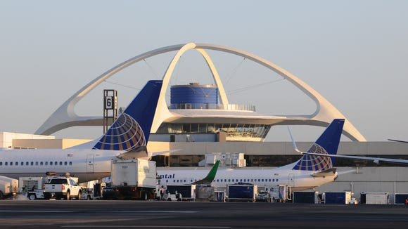 This 2010 file photo shows LAX's iconic 'Theme Building.'