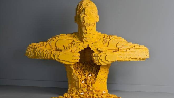 Yellow by artist Nathan Sawaya was one of the pieces on display at the Oshkosh Public Museum for the Art of the Brick. The exhibit showcased works by Sawaya made entirely of LEGO.
