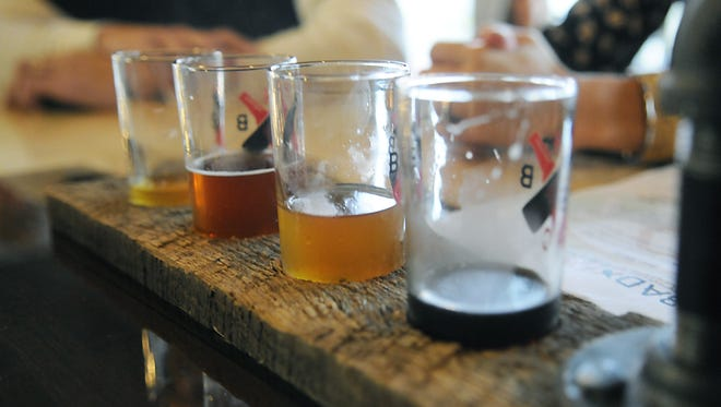 A selection of beers awaited fans when Bad Habit Brewing Company opened its doors Saturday. Bad Habits brewery opens on Halloween in St. Joseph.
