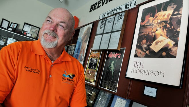 John Tice has moved his Brevard Hall of Fame items out of the Liberty Bell Memorial Museum, where he no longer serves as executive director.