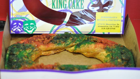 Quebedeaux's in Alexandria offers a boudin king cake.