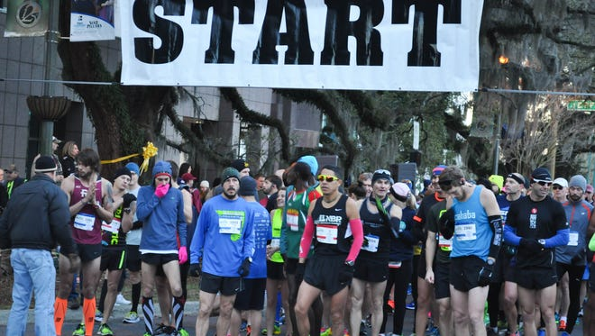 Runners and joggers of Tallahassee and surrounding areas gather for the 42nd Annual Tallahassee Marathon on Sunday, February 7.
