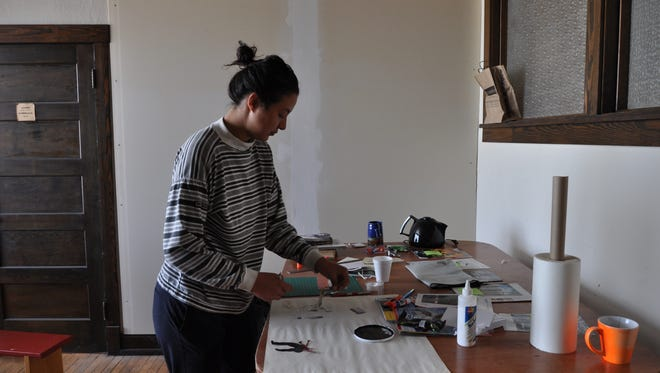 Jimena Garcia, of Mexico City, Mexico,  is the first artist to participate in the Carrizozo Colony Artist in Residence program.