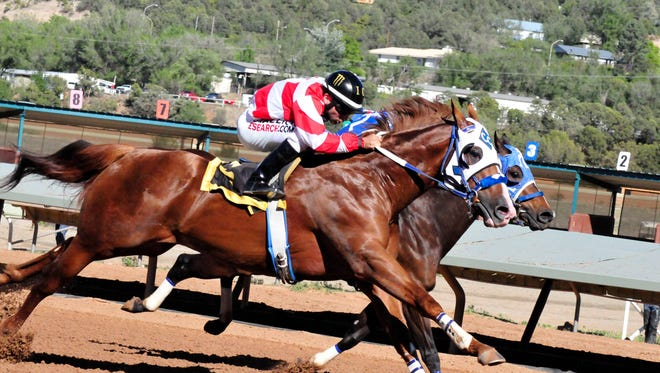 Jess Good Candy, who won last year's All American Futurity, qualified for the Ruidoso Derby on Sunday by winning his trial in 19.784 under the ride of Ivan Carnero at Ruidoso Downs Race Track and Casino. The Ruidoso Derby will be June 12.