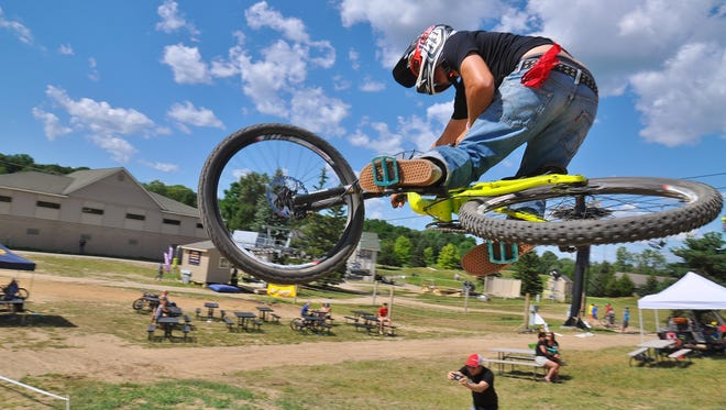 Paul Costella came in second of the Elite Division at the Mt. Brighton Mountain Biking Downhill Town Series