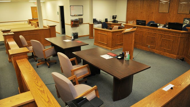 One of the courtrooms at the Melbourne Branch Courthouse on Nieman Avenue, a building whose future could be an issue for the clerk of courts to address.