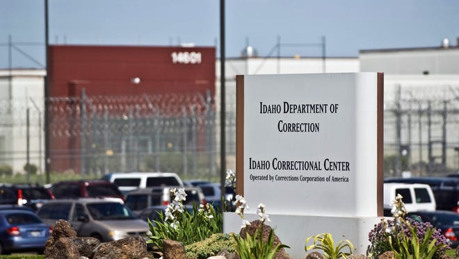 In this June 15, 2010, file photo, the Idaho Correctional Center is shown south of Boise, Idaho, operated by Corrections Corporation of America. The Justice Department says it's phasing out its relationships with private prisons after a recent audit found the private facilities have more safety and security problems than ones run by the government.