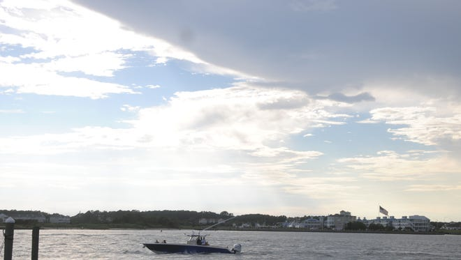 View of Assawoman bay from the Ocean City Inlet