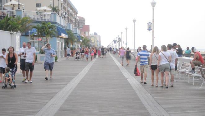 Ocean City Boardwalk on a Saturday afternoon