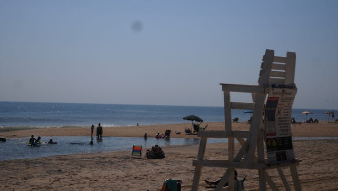 View of beach at 144th Street in Ocean City
