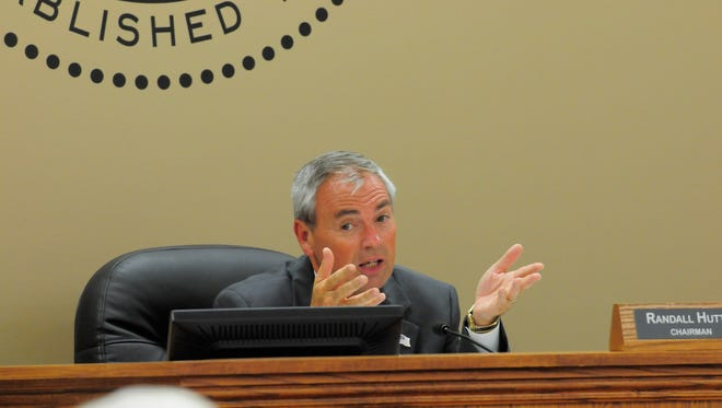 Wilson County Mayor Randall Hutto speaks during the commission's budget vote Aug. 29, 2016.