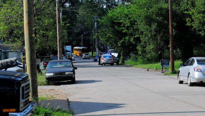 Three people were injured when two suspects walked up to a car on the 1900 block of 14th Avenue North and fired a gun at the people inside Aug. 29, 2016.