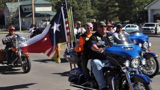 The Golden Aspen Motorcycle Rally Parade begins at Albertsons Market and will roll though midtown Saturday.