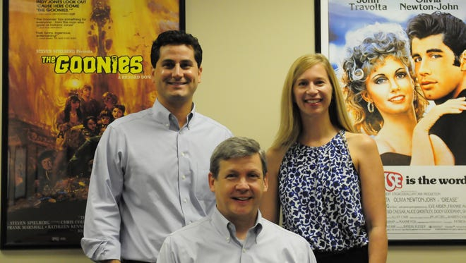 Nick Valadez, left, Dave Verhaagen, middle, and Lauren King, opened up Southeast Psych's new branch in Brentwood earlier this year. The practice puts an emphasis on blending popular culture with psychology to relate to kids and families.