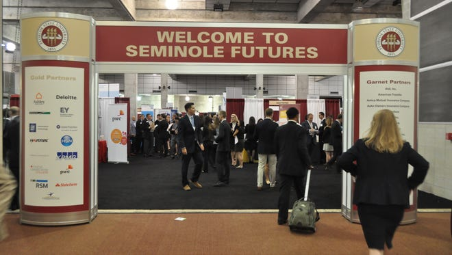 Seminole Futures Career Fair provides students the opportunity to network with companies.