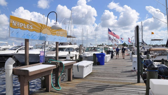 On October 15 & 16 The Marine Industries Association of  Collier County held the Naples Boat Show Downtown. The event took place at the Naples City Dock.