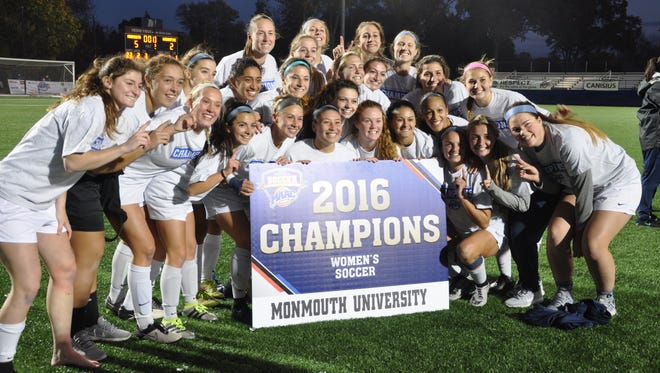 the Monmouth women's soccer team won the MAAC Tournament on Sunday with a 5-2 win over Quinnipiac.