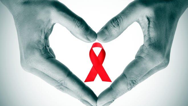 World AIDS Day ribbon. World AIDS Day - Dec. 1, 2016