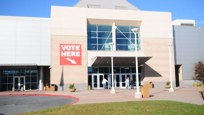 Election day at Roland E. Powell Convention Center in Ocean City.