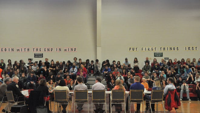 Students from MECHS and Madison Middle School attended the first of its kind teen town hall on Nov. 29.