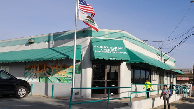The Alisal Union School District Office at 1205 E Market St, Salinas, CA.