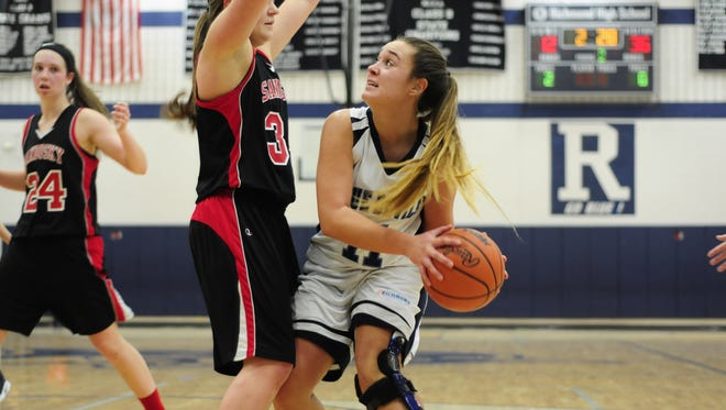 Richmond's Mary Ann Yamarino looks to the hoop against Sandusky at Richmond High School on Jan. 3, 2017.