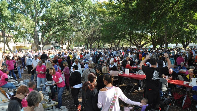 Guests enjoyed their time at the 11th Annual Empty Bowls event hosted by the Harry Chapin Food Bank. The event took place on Saturday, January 28 at Cambier Park in Naples.