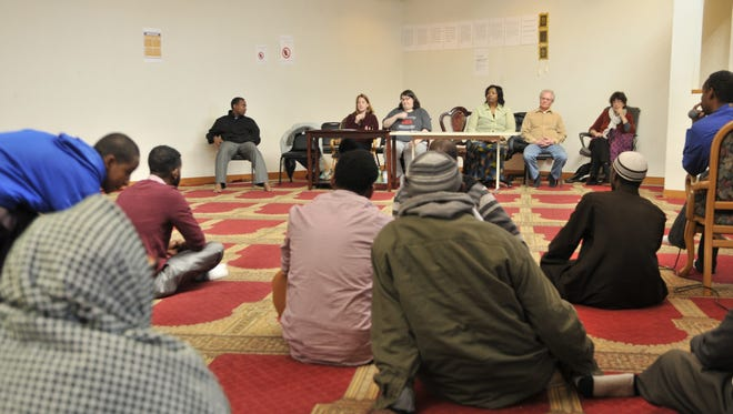 Members of the St. Cloud Islamic Center attend a listening session Sunday, Feb. 12 put on by Mid-Minnesota Legal Aid in St. Cloud. The session focused on training civil rights and the immigration ban signed by President Donald Trump in January.
