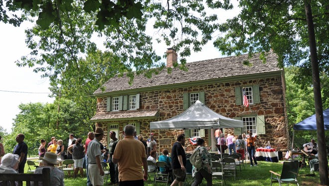 The Pennsauken Historical Society celebrated its 50th anniversary at the historic  Burrough-Dover House that had been saved through community efforts and listed on the Natilonal Register of Historic Places.